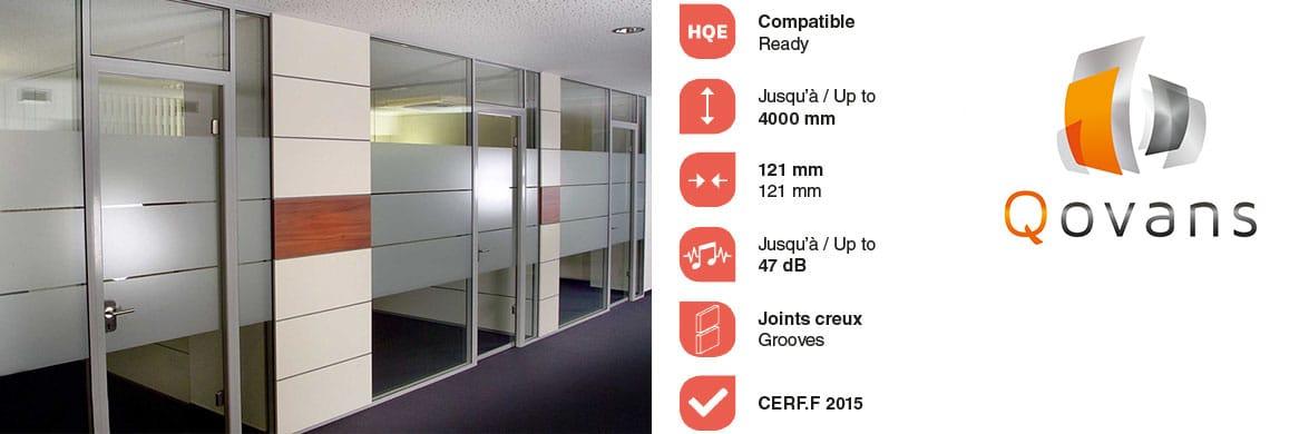 Système de cloison de bureaux C+ GROOVE