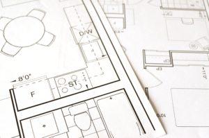 plan d'agencement d'un bureau vu de près