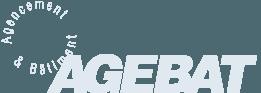 Logo AGEBAT | AGEBAT - Cloisons amovibles, faux-plafonds et aménagement de bureaux professionnels